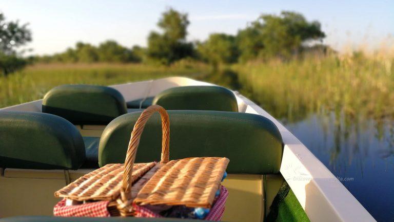 breakfast on boat trip to the danube delta