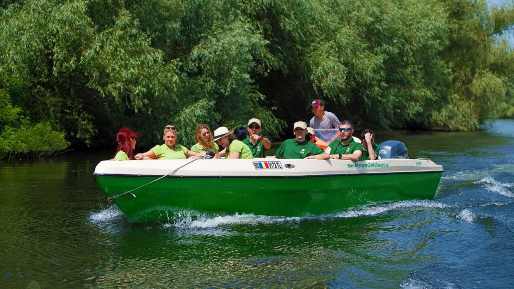 travel by boat to the danube delta