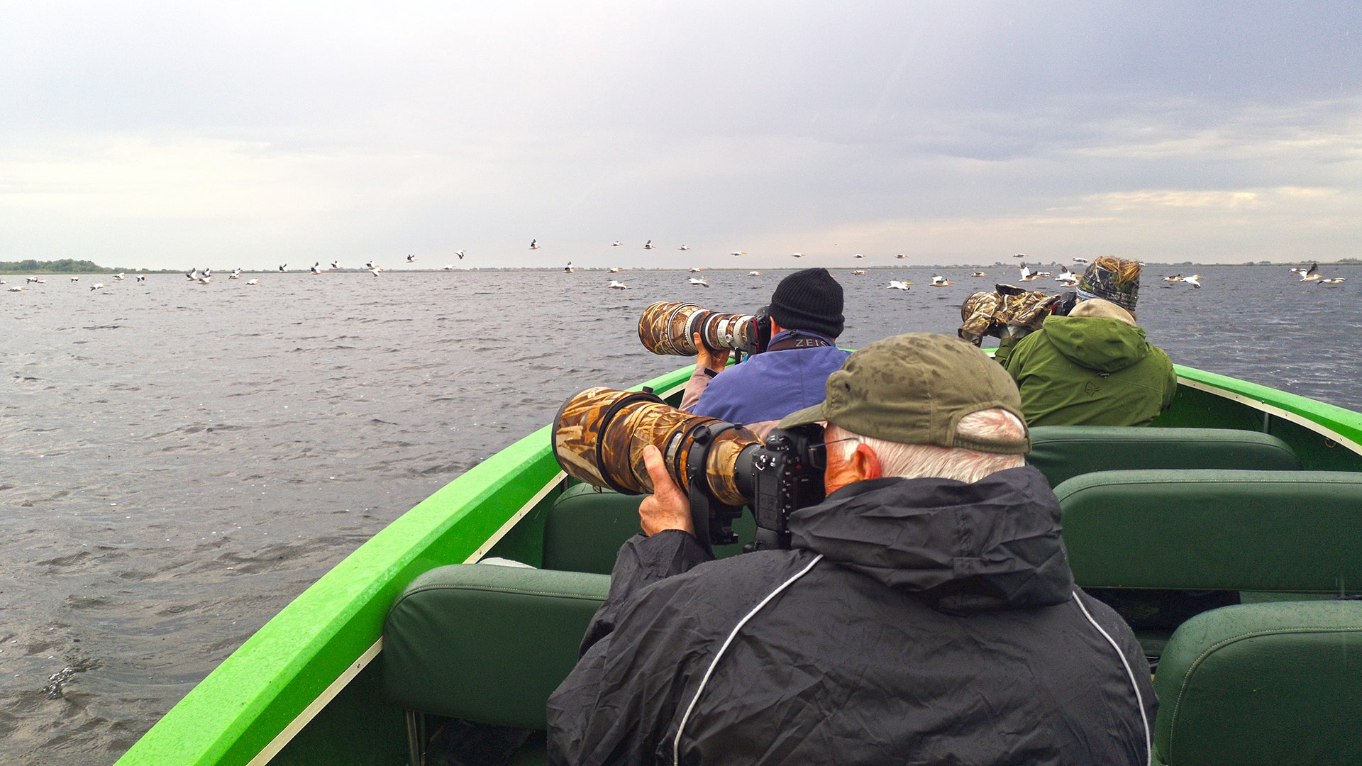 photo shooting from boat